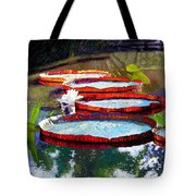 Summer Sunlight On Lily Pads Tote Bag
