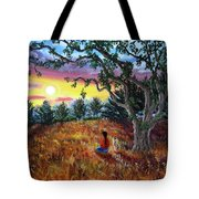 Summer Sunset Meditation Tote Bag