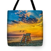 Summer Sunset On The Beach Tote Bag