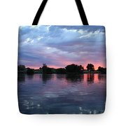 Summer Sunset On Yakima River 4 Tote Bag
