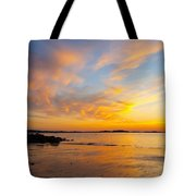 Summer Sunset Over Ipswich Bay Tote Bag