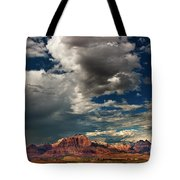 Summer Thunderstorm Clouds Form Over West Temple Zion National Park Utah Tote Bag