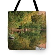 Summer Trees Sunset Tote Bag