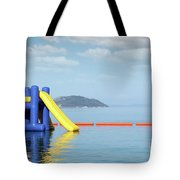 Summer Vacation Scene With Water Slide  Tote Bag