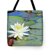 Summer Water Lily Tote Bag