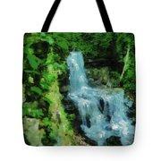 Summer Waterfall In West Milton Tote Bag