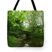 Summer Woodland And The Patapsco River Maryland Tote Bag
