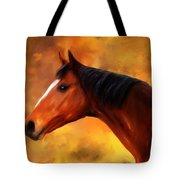 Summers End Quarter Horse Painting Tote Bag
