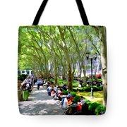 Summertime In Bryant Park Tote Bag