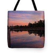 Summit Lake Reflected Sunset   Tote Bag