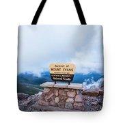 Summit Of Mount Evans Tote Bag