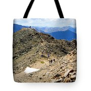Summit On Mount Massive Summit Tote Bag