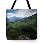 Summit View To Scaffell Tote Bag