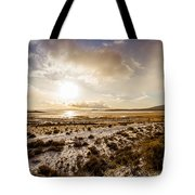 Sun Above Lake Argentino Tote Bag
