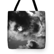 Sun And Clouds - Grayscale Tote Bag