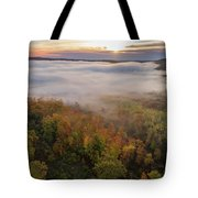 Sun And Fog Tote Bag