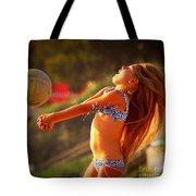 Sun Beach Girl Tote Bag