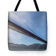 Sun Beams Through The Golden Gate Tote Bag