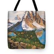 Sun Burst Peak Canada  Tote Bag