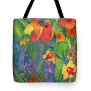 Sun Conure Parrots Tote Bag