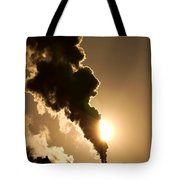 Sun Covered With Soot - Air Pollution Tote Bag