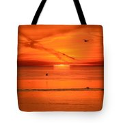 Sun Disk Behind The Cloud  Tote Bag