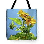 Sun Flower Artwork Sunflower 5 Giclee Art Prints Baslee Troutman Tote Bag