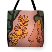 Sun Flower Conection Tote Bag