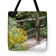 Sun Flower Fence Tote Bag