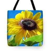 Sun Flower - Id 16235-142743-3974 Tote Bag