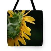Sun Flower On Black Tote Bag