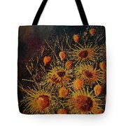 Sun Flowers And Physialis  Tote Bag