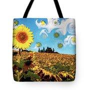 Sun Flowers Field Tote Bag