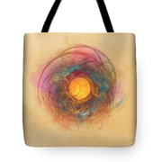 Sun Fractal Abstract Art Tote Bag