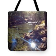 Sun Glare Off River Tote Bag