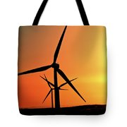 Sun Glare Upon Alberta Windfarm Tote Bag