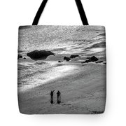 Sun Glow Black And White Tote Bag