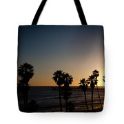 Sun Going Down In California Tote Bag
