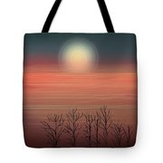 Sun Going To Bed Tote Bag