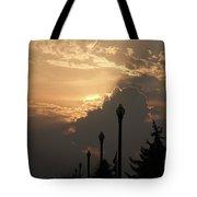 Sun In A Cloud Of Glory Tote Bag