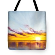 Sun In A Lake Tote Bag