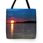 Sun Is Setting Over Port Hood Island Tote Bag
