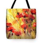 Sun Kissed Poppies Tote Bag