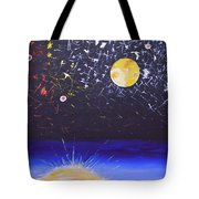 Sun Moon And Stars Tote Bag