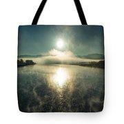 Sun O'er Missouri River Tote Bag
