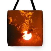 Sun On Fire Tote Bag
