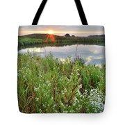 Sun Peeks Through Along The Nippersink Tote Bag