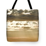 Sun Rays And Clouds Over Santa Cruz Tote Bag