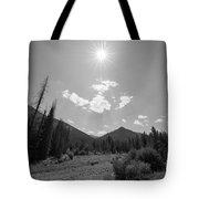 Sun Rays In Yellowstone Bw Tote Bag