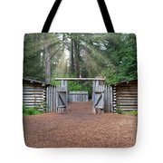Sun Rays Over Fort Clatsop Tote Bag